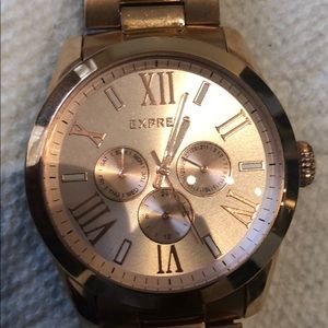 Gold Express luxury men's watch.